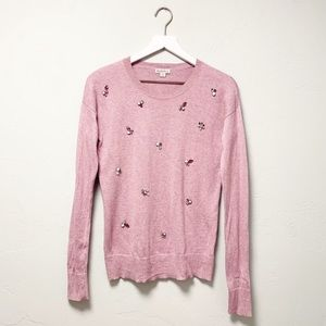 Merona Lavender Embellished Jewel Sweater